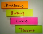 Database Theory: What is Timeout, Lock, Block, and Deadlock in a Database System?