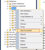 SQL Server: The sqlps PowerShell for easy Database File Navigation