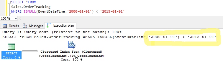 sql server simple parameterization without parameter