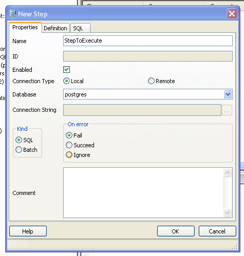 How to create job in PostgreSQL using PGAgent