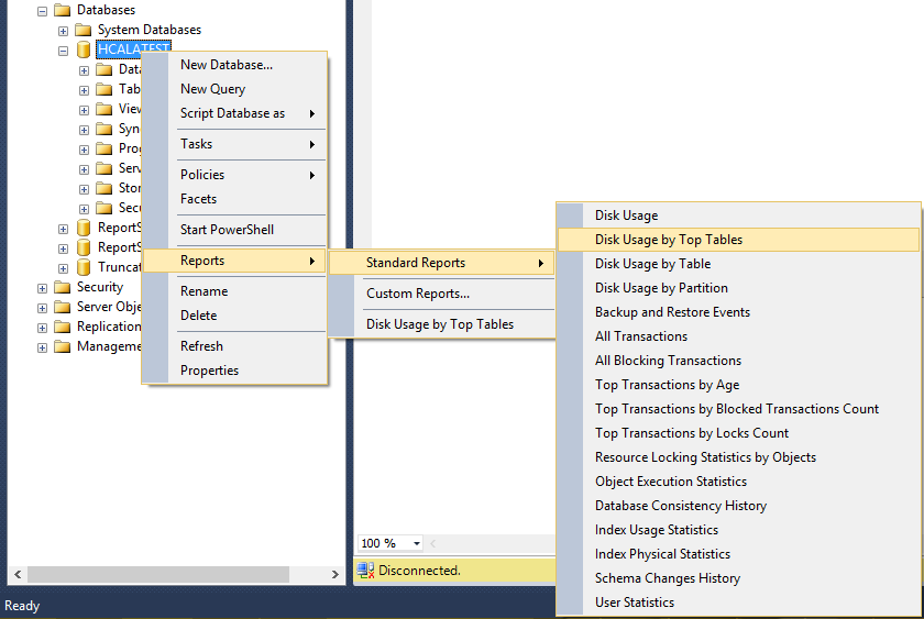SQL Server Option To Show Large Table