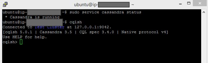 Install NoSQL Cassandra 3.5