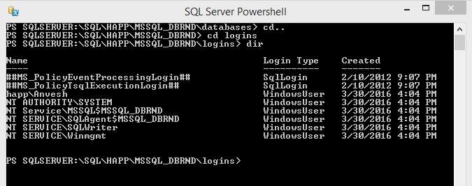 SQL Server PowerShell Change CD