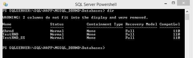 SQL Server PowerShell DB Dir