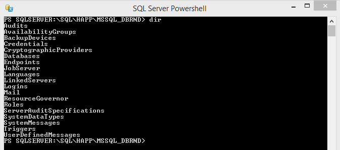 SQL Server PowerShell Dir