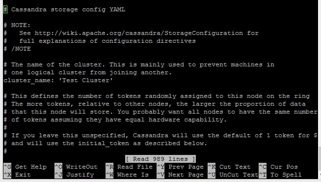 Cassandra Yaml File Configuration
