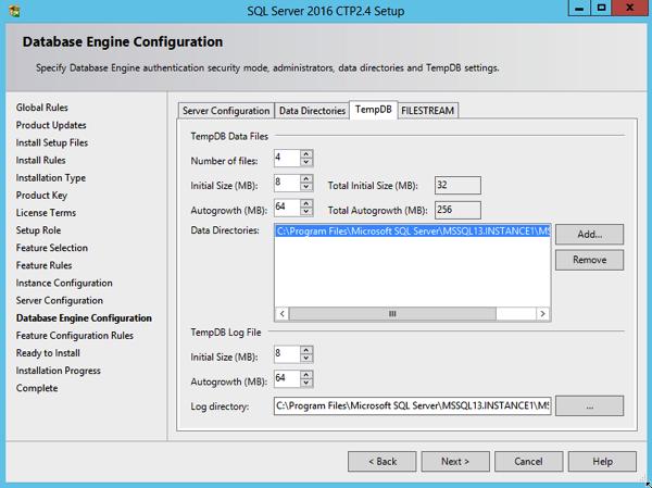 SQLServer TempDb Configuration